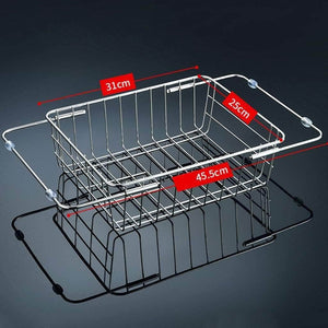 Organize with wxl stainless steel sink drain rack sink drain basket kitchen household drying dish storage pool rack wxlv size l45 5cmh25cm