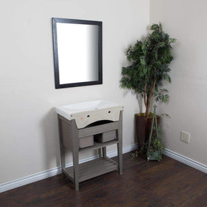 Get bellaterra home single sink gray wood vanity 27 5