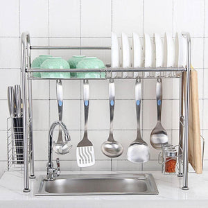 Latest kitchen single sink storage rack dish rack spoon shovel chopsticks storage rack kitchen small items rack