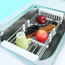Load image into Gallery viewer, Select nice european stainless steel sink drain rack storage rack kitchen sink put dish rack tableware dish rack shelf kitchen storage