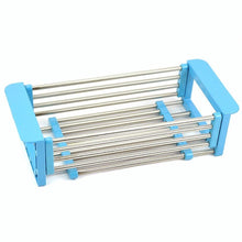 Load image into Gallery viewer, Latest yan junau kitchen racks stainless steel retractable sink drain rack dish rack kitchen supplies color blue