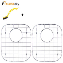 Load image into Gallery viewer, Buy toucan city tile and grout brush and glacier bay stainless steel sink grid fits 50 50 double bowl sink 32 1 4x18 1 2 set of 2 grid 5050 3118