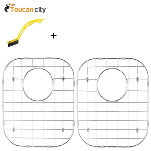 Buy toucan city tile and grout brush and glacier bay stainless steel sink grid fits 50 50 double bowl sink 32 1 4x18 1 2 set of 2 grid 5050 3118