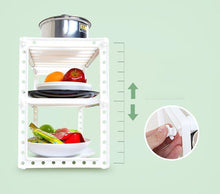 Load image into Gallery viewer, Shop for yanw shelf multifunction stainless steel kitchen shelf microwave oven sink seasoning oven rack fashion family kitchen storage rack 2 layer bearing weight 30kg color white