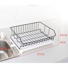 Load image into Gallery viewer, Shop here jinpai stainless steel dish rack drain rack put bowl plate rack tableware storage rack sink drain rack
