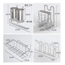 Load image into Gallery viewer, Selection dish drainer rack holder 304 stainless steel kitchen racks pool drying dishes dishes storage supplies dish rack sink drain rack
