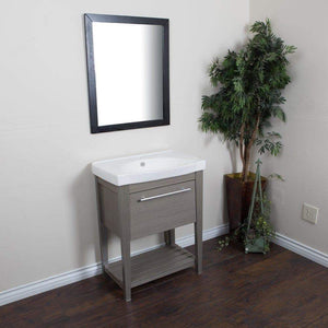 Home bellaterra home single sink gray wood vanity 27 5