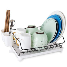 Load image into Gallery viewer, Storage organizer jinpai stainless steel dish rack drain rack put bowl plate rack tableware storage rack sink drain rack