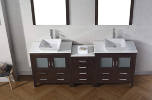 Online shopping virtu usa dior 82 inch double sink bathroom vanity set in espresso w square vessel sink white engineered stone countertop single hole polished chrome 2 mirrors kd 70082 s es