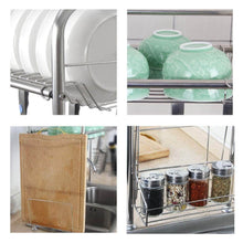 Load image into Gallery viewer, Featured kitchen single sink storage rack dish rack spoon shovel chopsticks storage rack kitchen small items rack