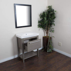 Great bellaterra home single sink gray wood vanity 27 5