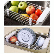 Load image into Gallery viewer, Selection european stainless steel sink drain rack storage rack kitchen sink put dish rack tableware dish rack shelf kitchen storage