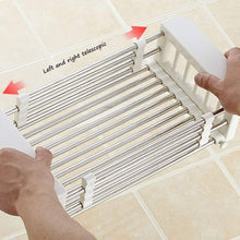 Load image into Gallery viewer, Results shelf liners kitchen shelf stainless steel kitchen sink shelf drain rack under drain sink drain rack kitchen utensil storage organization color silver size 57189 5cm