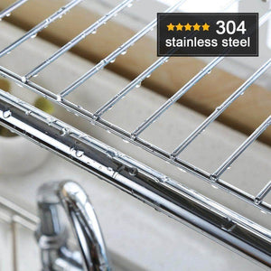 Select nice 1208s stainless steel over sink drying rack dish drainer rack kitchen organizer single groove single layer