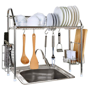 Related 1208s stainless steel over sink drying rack dish drainer rack kitchen organizer single groove single layer