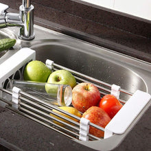 Load image into Gallery viewer, Save on european stainless steel sink drain rack storage rack kitchen sink put dish rack tableware dish rack shelf kitchen storage