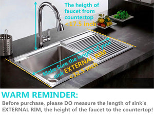New over the sink dish drying rack 2 tier large 18 8 stainless steel drainer display shelf kitchen supplies storage accessories countertop space saver stand tableware organizer with utensil holder