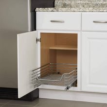 Load image into Gallery viewer, Featured household essentials c1521 1 glidez extra deep under sink sliding organizer pull out cabinet shelf chrome 14 5 inches wide