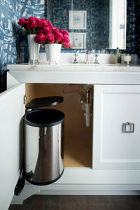 Discover the rev a shelf 8 010314 15 15 liter stainless steel pivot out under sink waste container