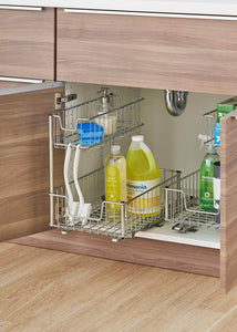 Best seller  trinity sink cabinet sliding undersink organizer 1 pack chrome