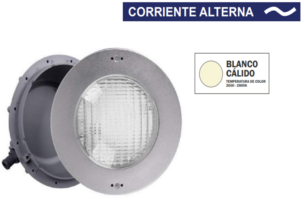 "Lampara LED para Piscina, Deluxe, PANDA, Blanco Calido, 50W, Acero Inoxidable,10"" DLX-10N-B-50W-12A"