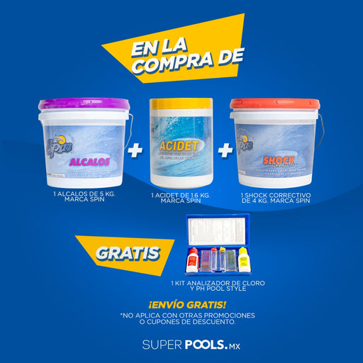 OFERTA Paquete Kit Analizador Cloro y Ph