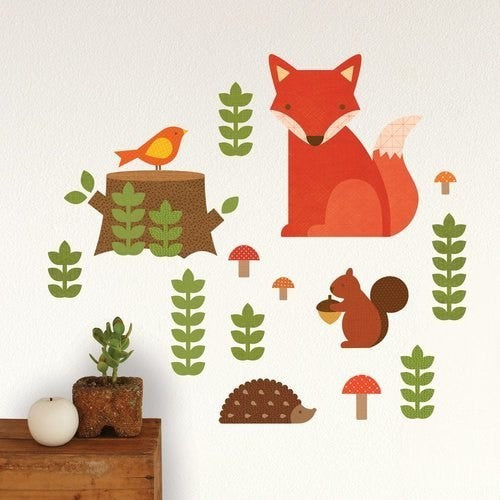 Petit Collage Woodland Wall Decal