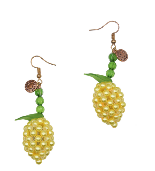 Susan Alexandra Lemon Meringue Earrings
