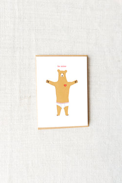 Egg-Press-Underwear-Bear-Be-Mine-Card