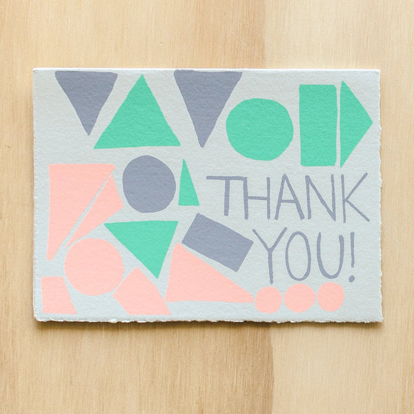 Gold Teeth Brooklyn Thank You Shapes Card