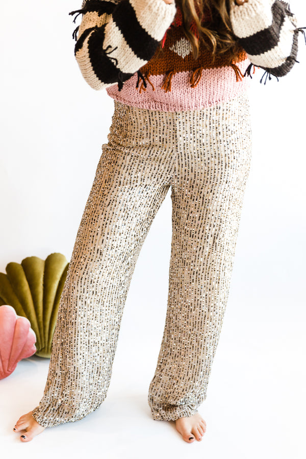Le Superbe Bianca Trouser in Back Stage Sequins