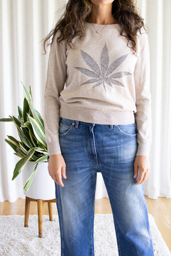 Pot Motif Wool and Cashmere Le Superbe Pullover