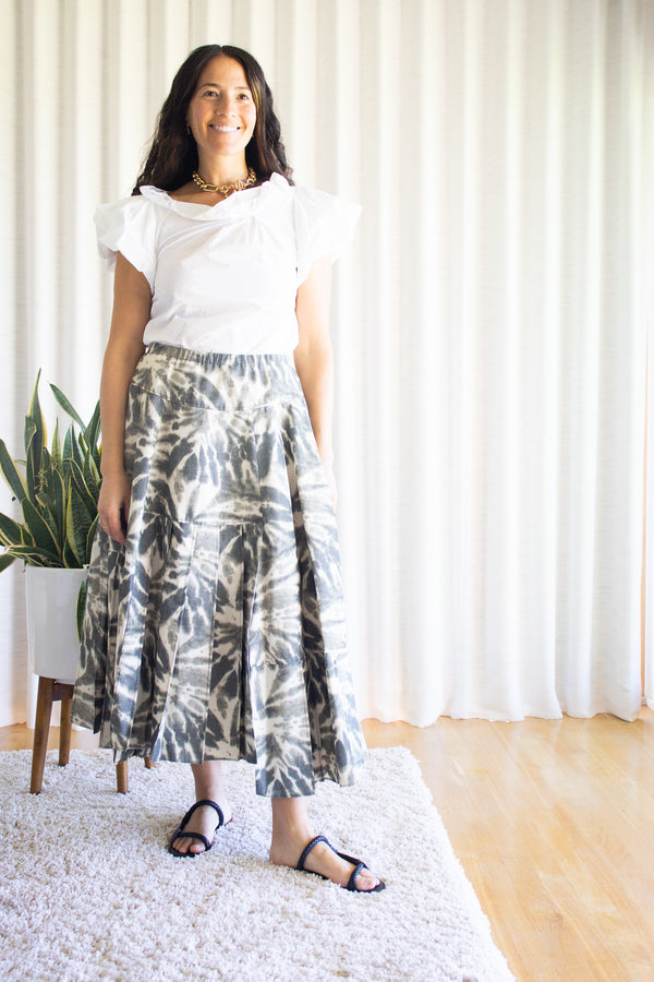 Odeeh-Shadow-Green-Skirt-Santa-Barbara-Boutique