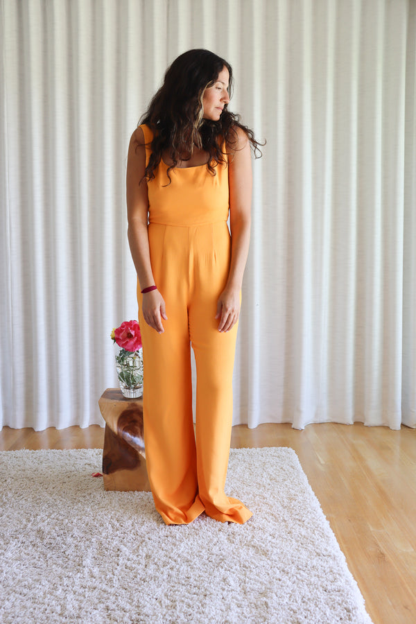 Mango Orange Jumpsuit by Saloni