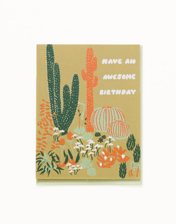 Small Adventure Cacti Vignette Awesome Birthday