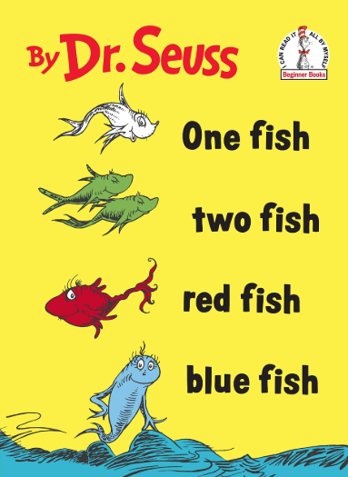 One Fish, Two Fish, Red Fish, Blue Fish Book by Dr. Seuss