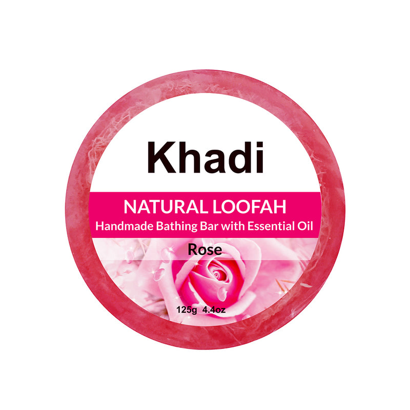 Rose Loofah Soap - 125G