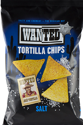 WANTED TORTILLA CHIPS SALT 200G X 10