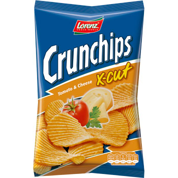 CRUNCHIPS X-CUT TOMATE FROMAGE  LORENZ 85G *24