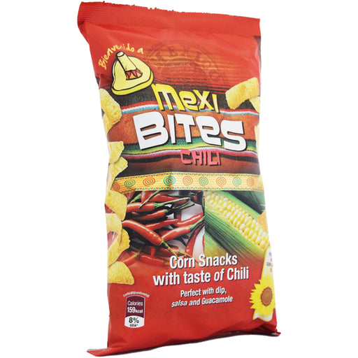 CORN SNACK CHILI MEXI BITE 125G X 12