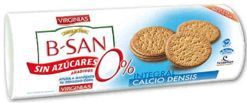 BISCUITS BIOSAN CALCIO PLUS SANS SUCRE 180 G *24