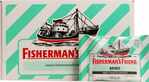 FISHERMAN'S FRIEND MENTHE SANS SUCRE 25G*24