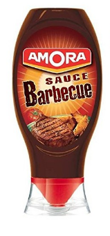 SAUCE BARBECUE AMORA 490 G TOP DOWN *12