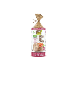 BROWN RICE CAKE 7 SUPER SEEDS 120G RICE UP 0071 SS GLUTEN*12