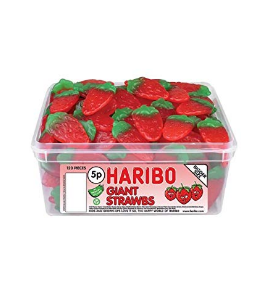 HARIBO BIG STRAWBERRY 1KG (J-045)*1
