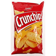 CRUNCHIPS CHIPS CHEESE LORENZ 100G *25