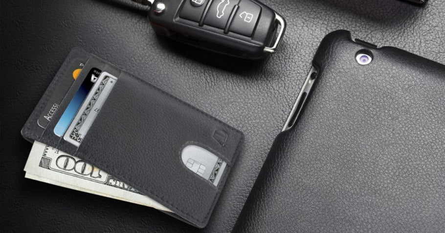 Up to 40% Off RFID Leather Wallets & Checkbook Covers at Amazon