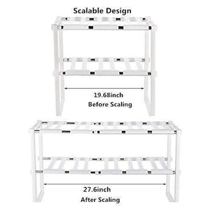 Order now under sink organizer 2 tier expandable kitchen bathroom pantry storage shelf multi functional adjustable under kitchen sink organization storage rack heavy duty white