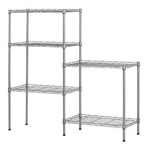 Related ferty 5 wire shelving units stacking storage shelf heavy duty metal adjustable shelves rack organizer for garden laundry bathroom kitchen pantry closet us stock