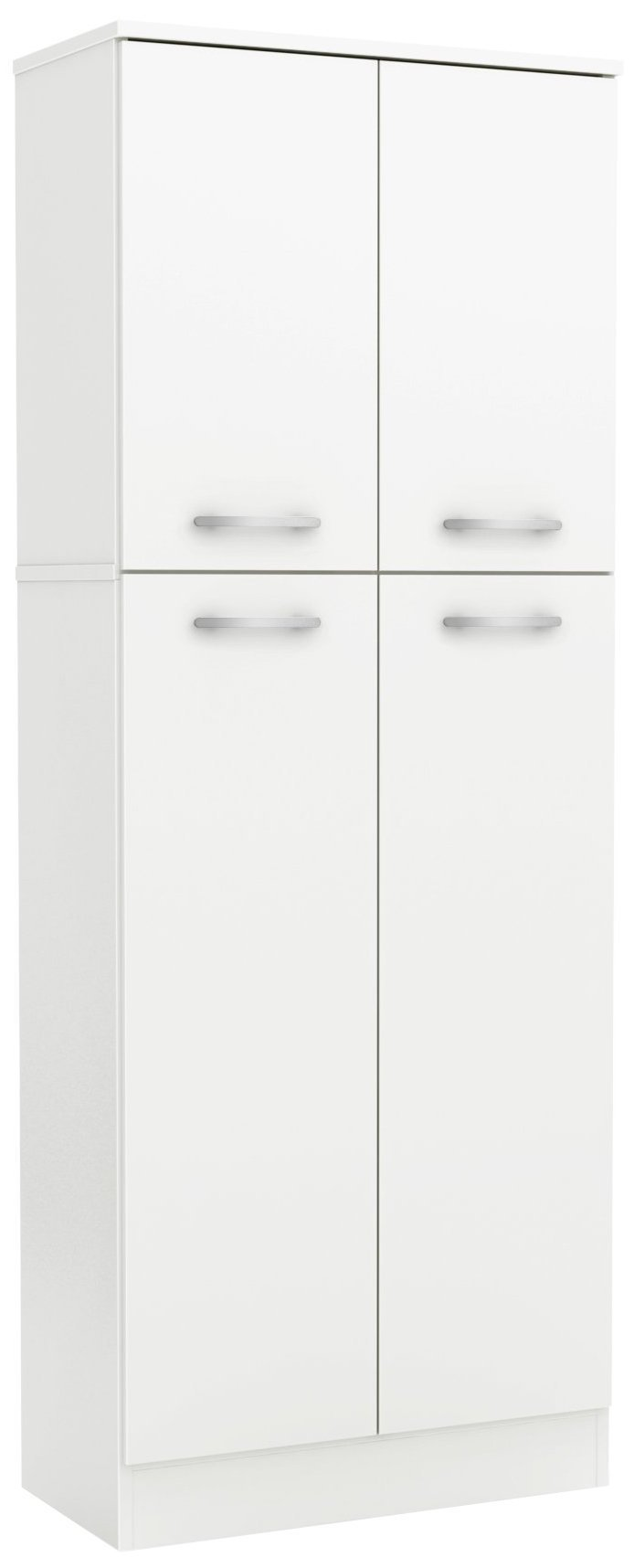 Discover south shore 4 door storage pantry with adjustable shelves pure white